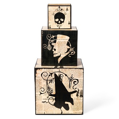 Halloween Haunted Nesting Blocks - 3 ct