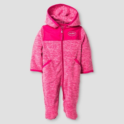 Baby Girls' Stevies Space Dye One-Piece Snowsuit Pink Moon 0-3M