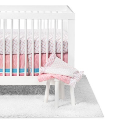 Crib Bedding Set Pam Grace Aqua
