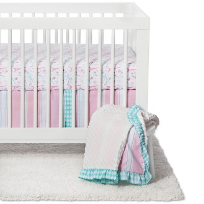 Crib Bedding Set Pam Grace Light Pink