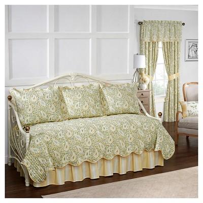 Paisley Verveine Quilt Set (Daybed) Green 5pc - Waverly®