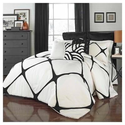 Cersei Fashion Comforter Set Queen Ivory 3 Piece - Vue®