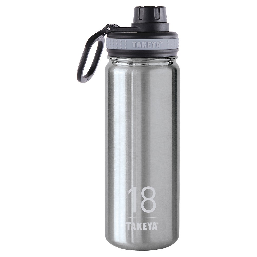 Takeya Thermoflask 18oz Insulated Stainless Steel (Silver) Water Bottle - Steel