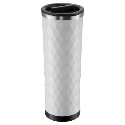 Takeya 16oz Diamond Tumbler - White