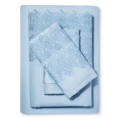 Royalty 600 Thread Count Sheet Set (Full) Pale Blue - Elite Home