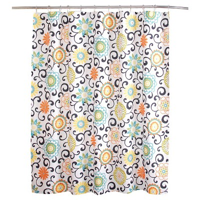 "Pom Pom Shower Curtain Multi-Colored (72""x72"") - Waverly"