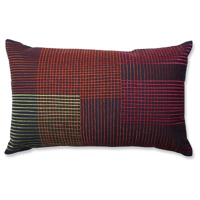 "Throw Pillow Graphic Lines - (20""x12"") - Pillow Perfect®"