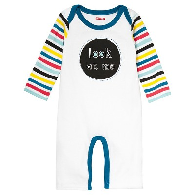 Skip Hop Baby Romper - 'Look At Me' 6M