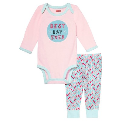 Skip Hop Baby Long Sleeve Bodysuit & Pant Set- 'Best Day Ever' NB