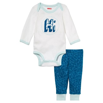 Skip Hop Baby Long Sleeve Bodysuit & Pant Set - 'Hi' NB