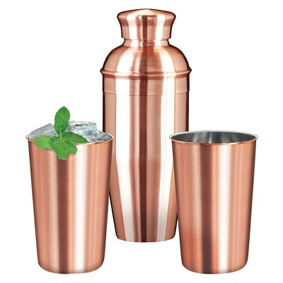 OGGI Copper Plated Cocktail Set - 3pc