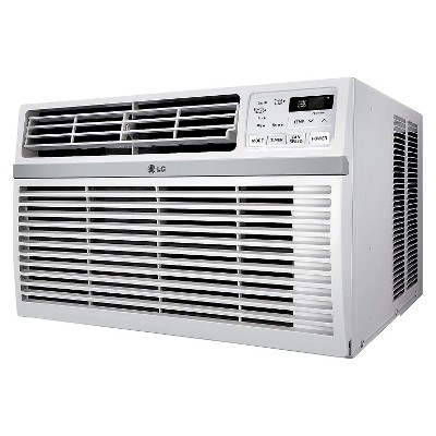 LG 8-000 BTU 115V Window-Mounted Air Conditioner with Remote Control - White - LW8016ER