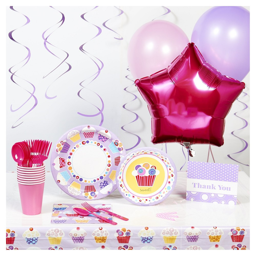 Sweet Cupcake Basic Party Party Kit, Multi-Colored