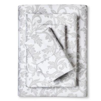 Home Styles Damask Cotton Sheet Set (Queen) White - Elite Home