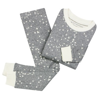 Organic Twinkle Bee Pajama Set Heather Grey 0-3M - Burt's Bees Baby™