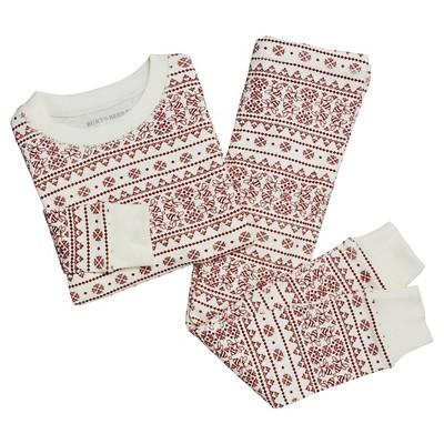 Organic Fair Isle Pajama Set Ivory 0-3M - Burt's Bees Baby™