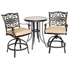Hanover Monaco 3-Piece High Dining Bistro Set