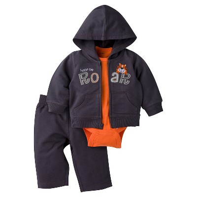 Baby Boys' Tiger Hooded Jacket, Short-Sleeve Onesie® and Pant Set 0-3m - Gerber®