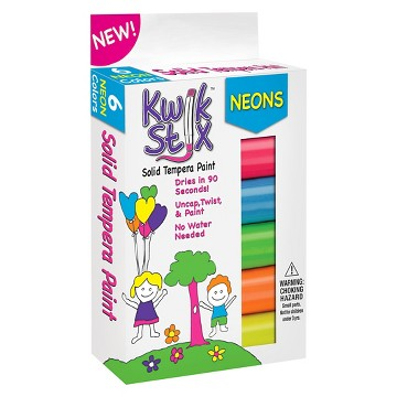Kwik Stix® Tempera Painting Kit, 3pk - 18 Neon Colors