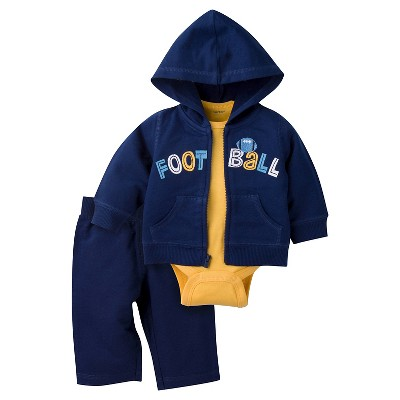 Baby Boys' Football Hooded Jacket, Short-Sleeve Onesie® and Pant Set 0-3m - Gerber®