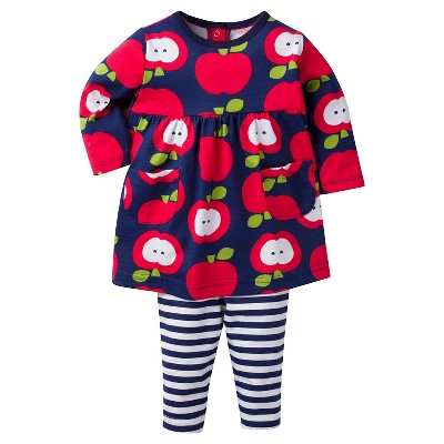 Baby Girls' Apple Dress with Leggings Set 0-3m - Gerber®