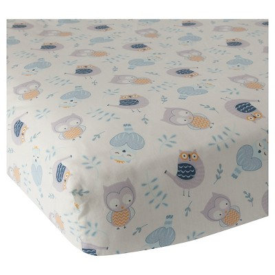 Happi by Dena™ Night Owl Fitted Crib Sheet by Lambs & Ivy®