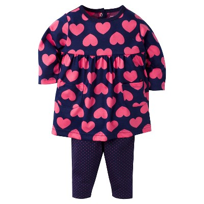 Baby Girls' Hearts Dress with Leggings Set 0-3m - Gerber®