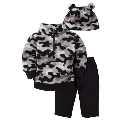 Baby Boys' Camo Microfleece Shirt, Pant and Cap Set 3-6m - Gerber®