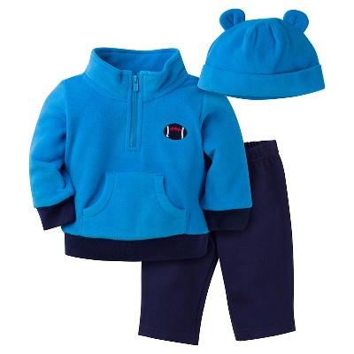 Baby Boys' Football Microfleece Shirt, Pant and Cap Set 3-6m - Gerber®