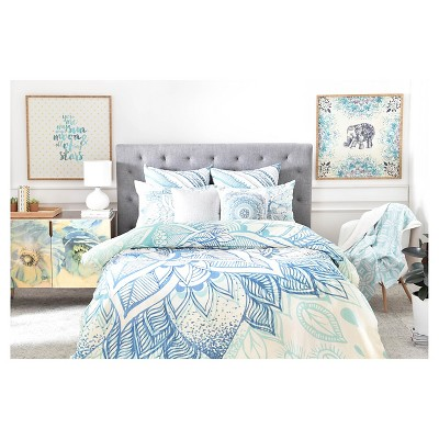 Rosebudstudio Lovely Soul Floral Pillow Sham (Standard) Blue Floral 1 pc - DENY Designs®
