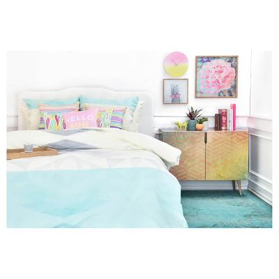 Gabi Lattice Aqua Pillow Shams (King) Blue Geometric 2 pc - DENY Designs®
