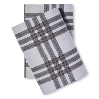 Knit Cotton Flannel Pillowcase Set (King) Grey - Elite Home®