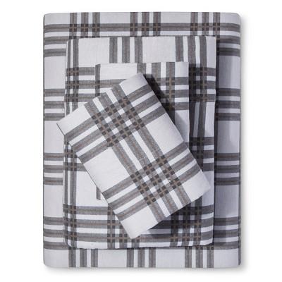 Cortelyou Cotton Flannel Sheet Set (King) Grey - Elite Home®
