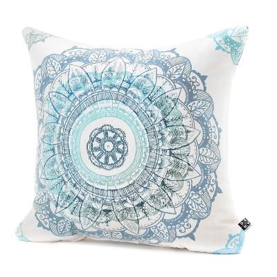 "Rosebudstudio Mandala Throw Pillow Blue/Mandala - (18""x18"") - DENY Designs®"