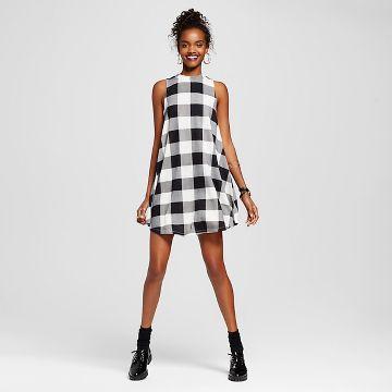 Juniors Black White Dress : Target
