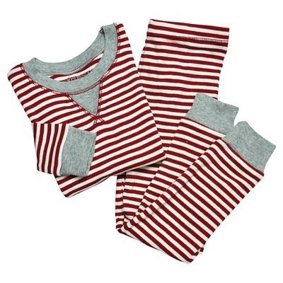 Organic Candy Cane Pajama Set Cranberry 0-3M - Burt's Bees Baby™