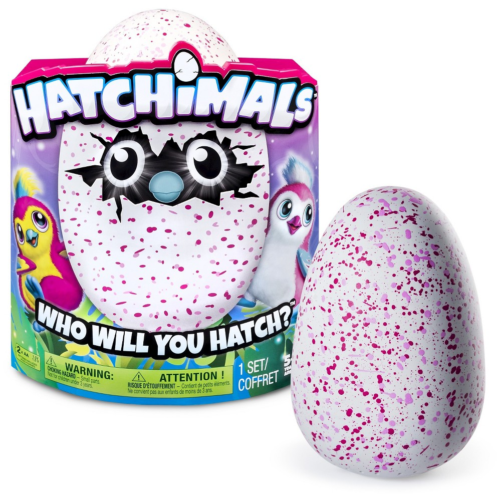 Hatchimals Hatching Egg Penguala by Spin Master – Pink/Red