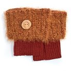 MUK LUKS® Women's 1-Pair Fuzzy Boot Toppers - Burnt Sienna One Size Fits Most