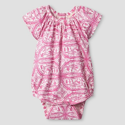 Kate Quinn Organics Baby Girls' Bubble Bodysuit - Pink 3-6M