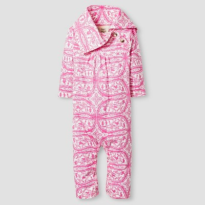 Kate Quinn Organics Baby Girls' Long Sleeve Jumpsuit - Pink 0-3M
