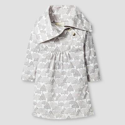 Kate Quinn Organics Baby Girls' Long Sleeve Dress - Brown 3-6M