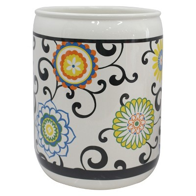Pom Pom Wastebasket Multi-Colored - Waverly