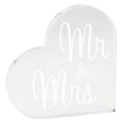 Mr and Mrs Acrylic Square Clear Party Decoration