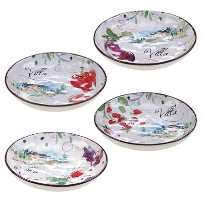 "Certified International Villa Set of 4 Soup/Pasta Bowl 8.5"" Assorted"