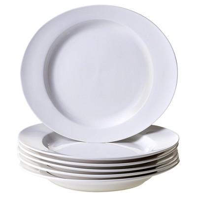 "Certified International Ellipse Set of 6 Dinner Plate 11.5"" x 10"""