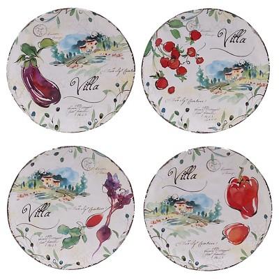 """Certified International Villa Set of 4 Dessert Plate 8.75"""" Assorted"""