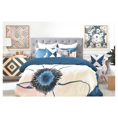 Khristian A Howell Fleur Floral Pillow Shams (King) Blue 2 pc - DENY Designs®
