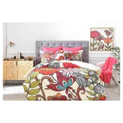Valentina Ramos Harmonia Floral Pillow Shams (King) Red 2 pc - DENY Designs®