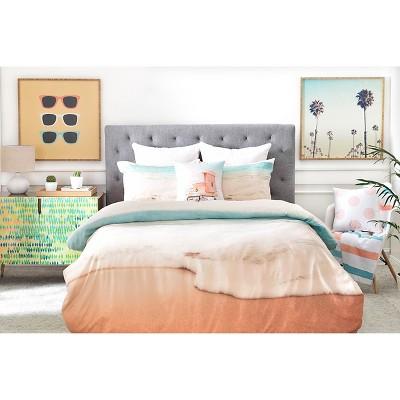 Bree Madden Ombre Beach Pillow Shams (King) Blue Ocean 2 pc - DENY Designs®