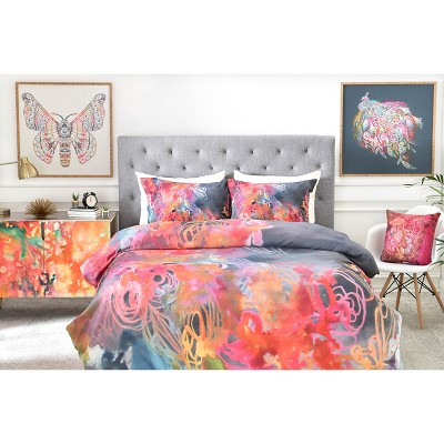Stephanie Corfee The Bursting Heart Floral Pillow Shams (Standard/Queen) Blue Floral 2 pc - DENY Designs®